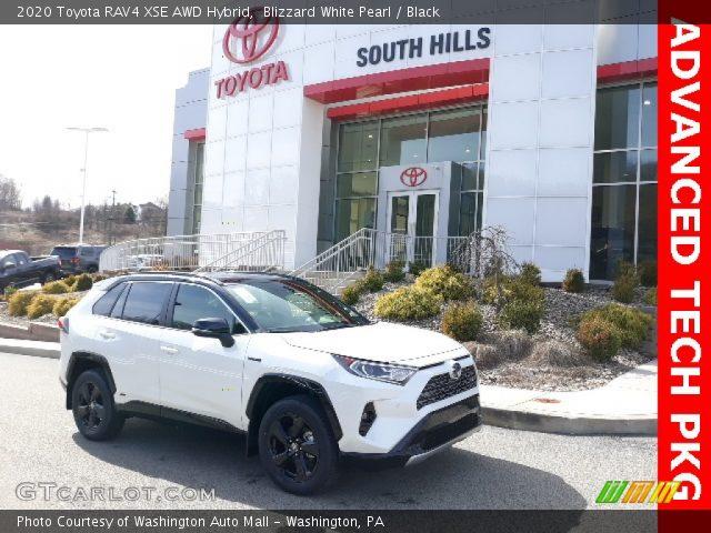 2020 Toyota RAV4 XSE AWD Hybrid in Blizzard White Pearl