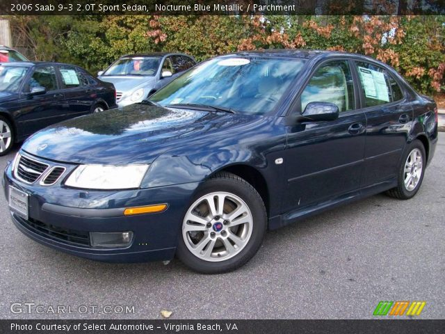 nocturne blue metallic 2006 saab 9 3 2 0t sport sedan. Black Bedroom Furniture Sets. Home Design Ideas