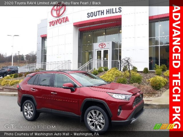 2020 Toyota RAV4 Limited AWD in Ruby Flare Pearl