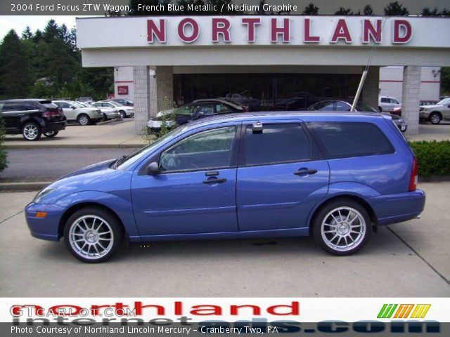 french blue metallic 2004 ford focus ztw wagon medium. Black Bedroom Furniture Sets. Home Design Ideas