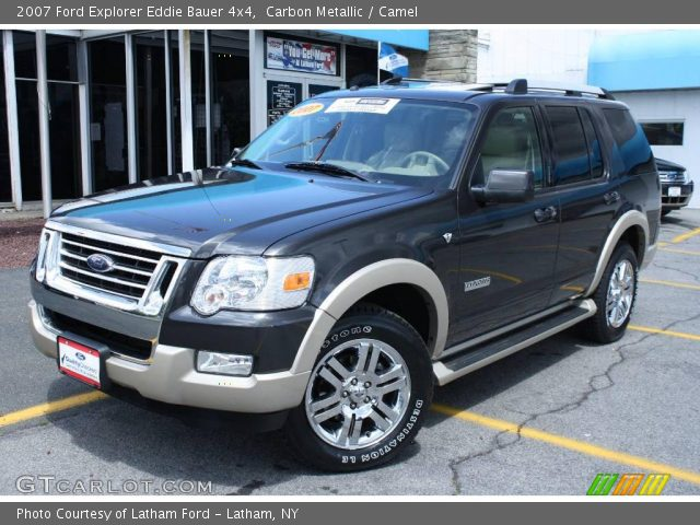 carbon metallic 2007 ford explorer eddie bauer 4x4 camel interior vehicle. Black Bedroom Furniture Sets. Home Design Ideas