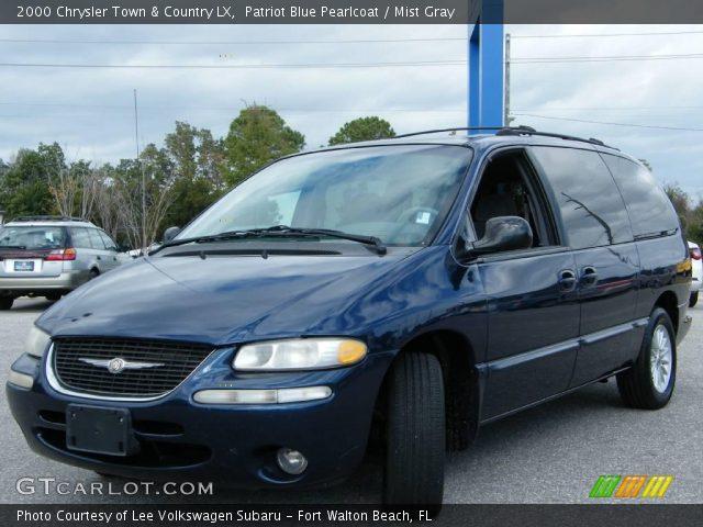 patriot blue pearlcoat 2000 chrysler town country lx mist gray interior. Black Bedroom Furniture Sets. Home Design Ideas