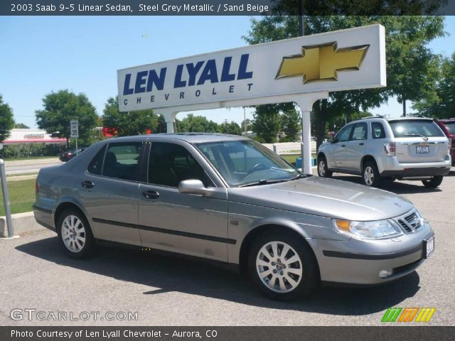 2003 Saab 9-5 Linear Sedan in Steel Grey Metallic