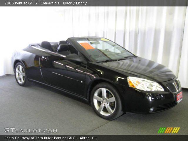 black 2006 pontiac g6 gt convertible ebony interior. Black Bedroom Furniture Sets. Home Design Ideas