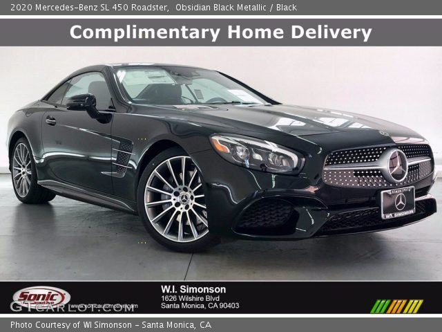 2020 Mercedes-Benz SL 450 Roadster in Obsidian Black Metallic