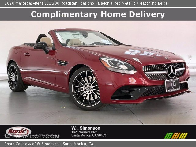 2020 Mercedes-Benz SLC 300 Roadster in designo Patagonia Red Metallic