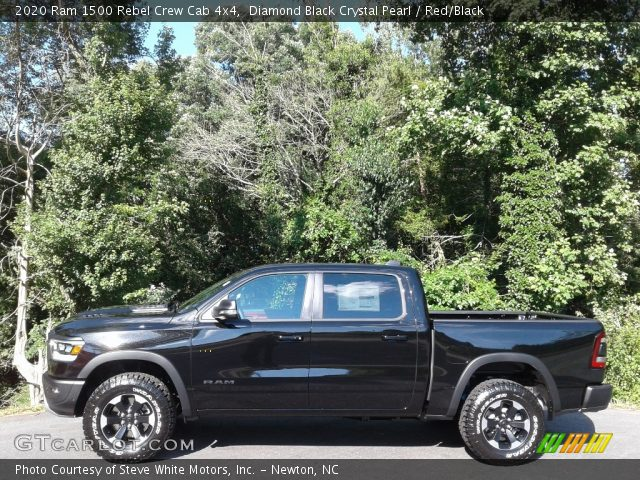 2020 Ram 1500 Rebel Crew Cab 4x4 in Diamond Black Crystal Pearl