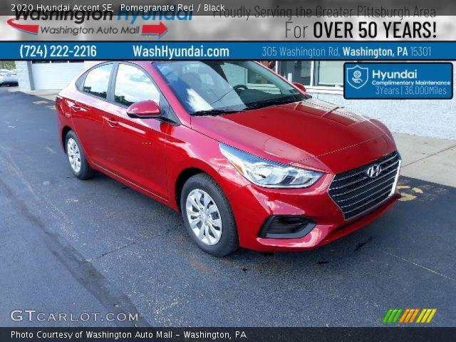2020 Hyundai Accent SE in Pomegranate Red