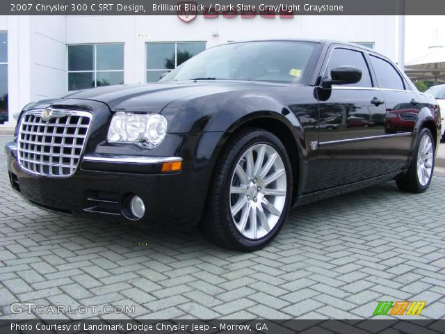 Brilliant black 2007 chrysler 300 c srt design dark - 2007 chrysler 300 custom interior ...