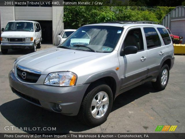 platinum metallic 2001 mazda tribute lx v6 4wd gray. Black Bedroom Furniture Sets. Home Design Ideas