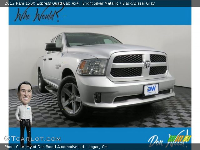 2013 Ram 1500 Express Quad Cab 4x4 in Bright Silver Metallic