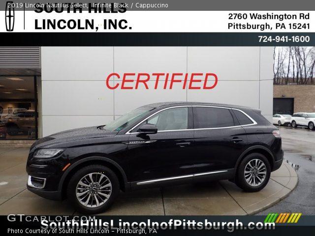 2019 Lincoln Nautilus Select in Infinite Black