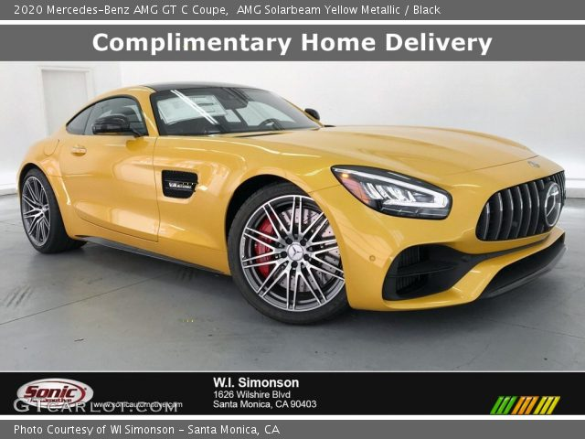 2020 Mercedes-Benz AMG GT C Coupe in AMG Solarbeam Yellow Metallic