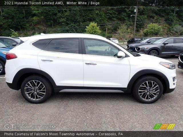 2021 Hyundai Tucson Limited AWD in Winter White