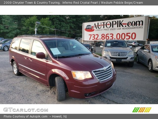 2009 Chrysler Town & Country Touring in Inferno Red Crystal Pearl