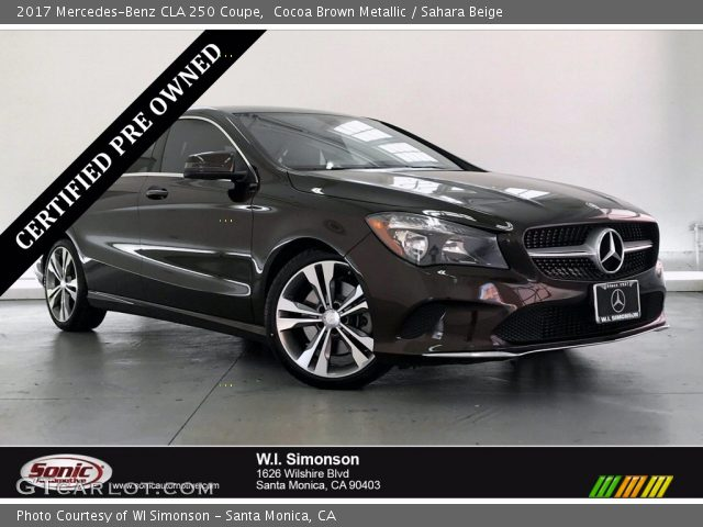 2017 Mercedes-Benz CLA 250 Coupe in Cocoa Brown Metallic