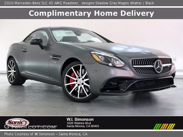 2020 Mercedes-Benz SLC 43 AMG Roadster in designo Shadow Gray Magno (Matte)