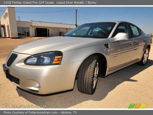 Liquid Silver Metallic 2008 Pontiac Grand Prix Gxp Sedan