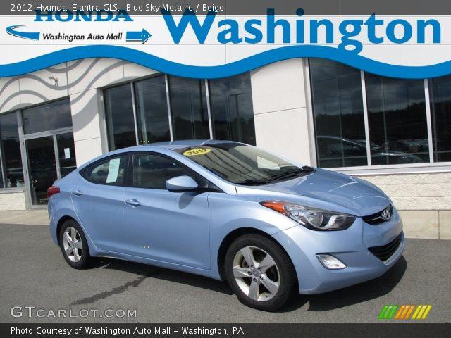 2012 Hyundai Elantra GLS in Blue Sky Metallic