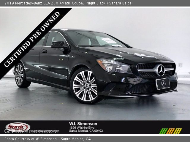 2019 Mercedes-Benz CLA 250 4Matic Coupe in Night Black