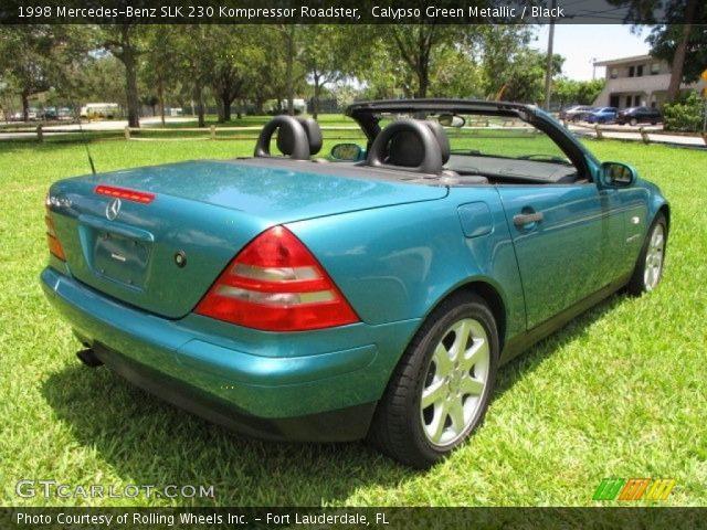 1998 Mercedes-Benz SLK 230 Kompressor Roadster in Calypso Green Metallic