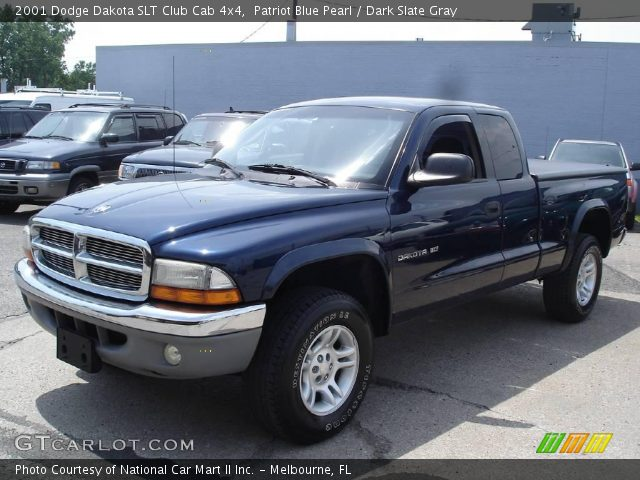 patriot blue pearl 2001 dodge dakota slt club cab 4x4. Black Bedroom Furniture Sets. Home Design Ideas