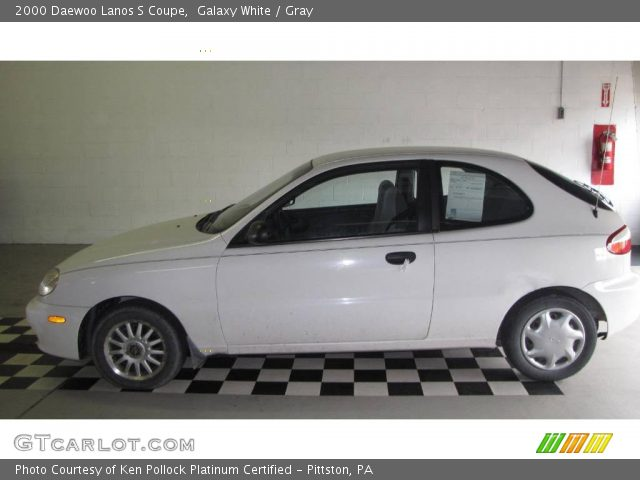 2000 Daewoo Lanos S Coupe in Galaxy White