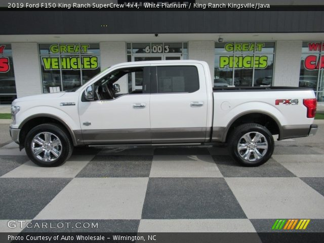 2019 Ford F150 King Ranch SuperCrew 4x4 in White Platinum