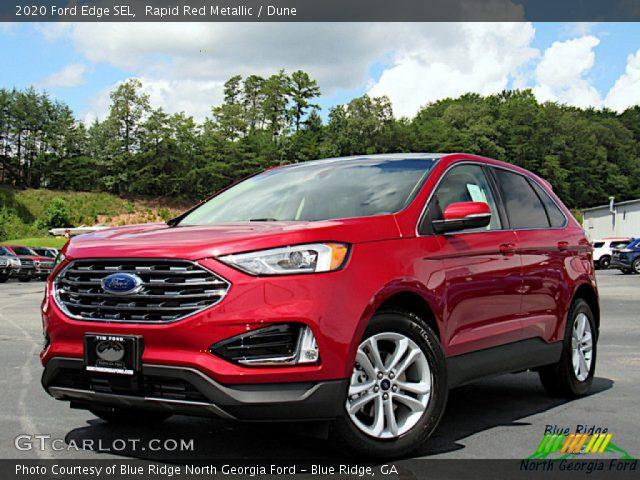 2020 Ford Edge SEL in Rapid Red Metallic