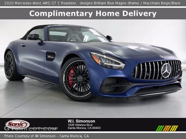 2020 Mercedes-Benz AMG GT C Roadster in designo Brilliant Blue Magno (Matte)