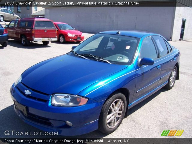 arrival blue metallic 2003 chevrolet cavalier ls sport sedan graphite gray interior gtcarlot com vehicle archive 13930037 gtcarlot com