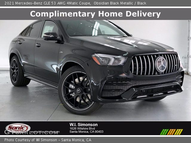 2021 Mercedes-Benz GLE 53 AMG 4Matic Coupe in Obsidian Black Metallic