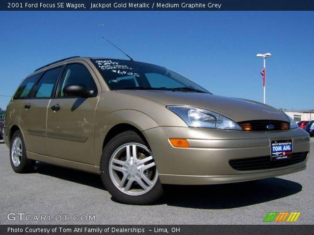 jackpot gold metallic 2001 ford focus se wagon medium graphite grey interior. Black Bedroom Furniture Sets. Home Design Ideas