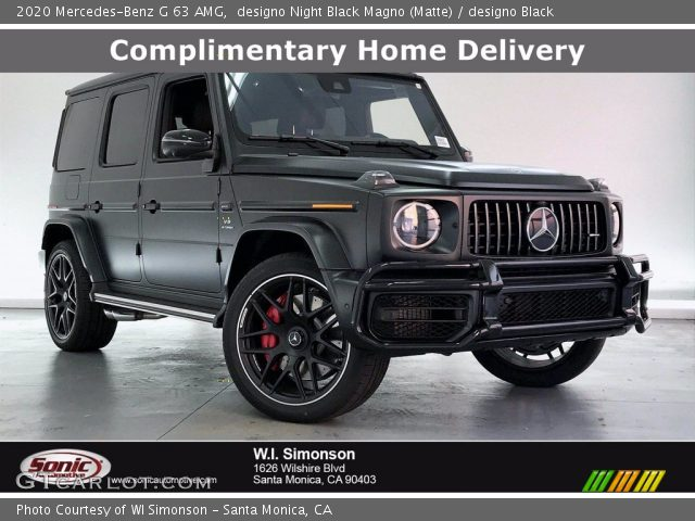 2020 Mercedes-Benz G 63 AMG in designo Night Black Magno (Matte)