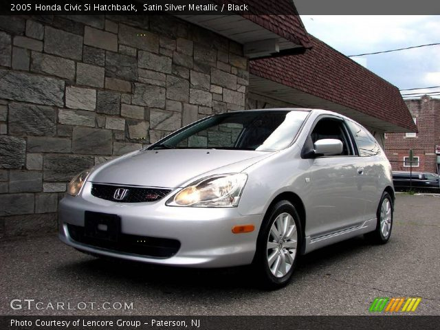 satin silver metallic 2005 honda civic si hatchback. Black Bedroom Furniture Sets. Home Design Ideas