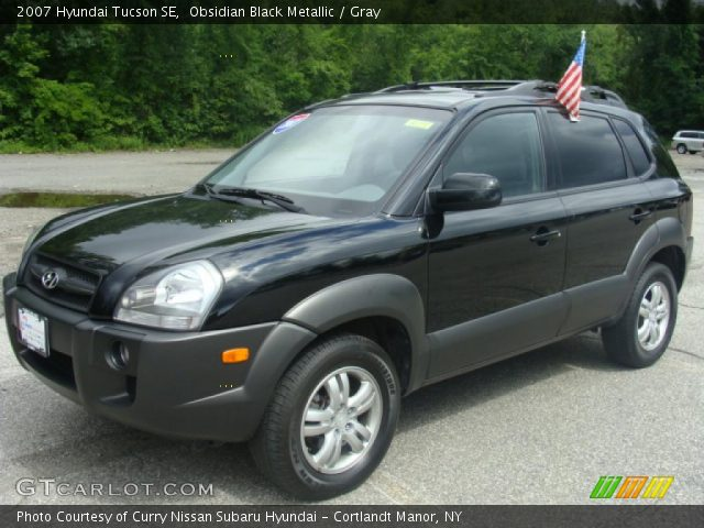 obsidian black metallic 2007 hyundai tucson se gray. Black Bedroom Furniture Sets. Home Design Ideas