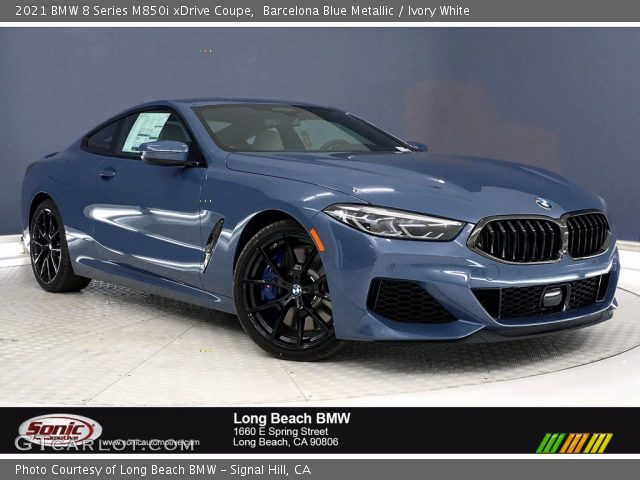 2021 BMW 8 Series M850i xDrive Coupe in Barcelona Blue Metallic