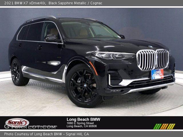 2021 BMW X7 xDrive40i in Black Sapphire Metallic