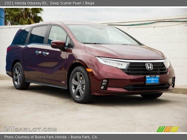 2021 Honda Odyssey EX in Deep Scarlet Pearl