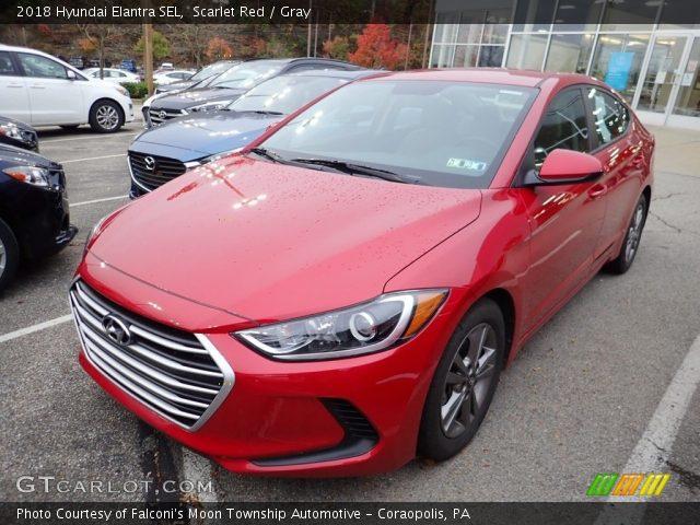2018 Hyundai Elantra SEL in Scarlet Red