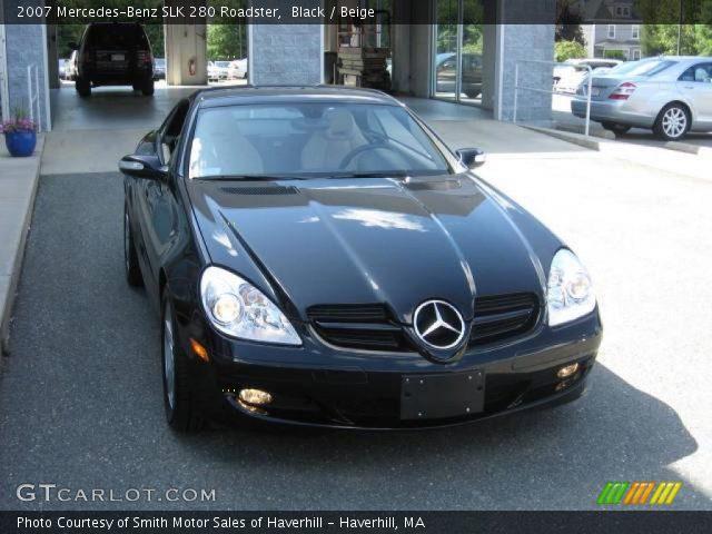 Black 2007 mercedes benz slk 280 roadster beige for 2007 mercedes benz 280