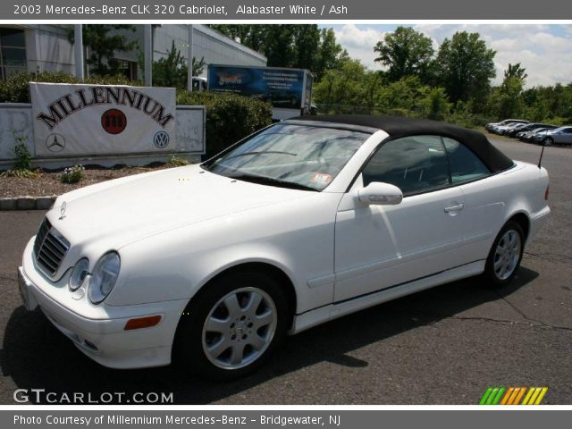 Alabaster white 2003 mercedes benz clk 320 cabriolet for 2003 mercedes benz clk 320