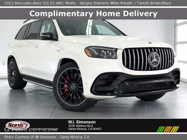 2021 Mercedes-Benz GLS 63 AMG 4Matic in designo Diamond White Metallic