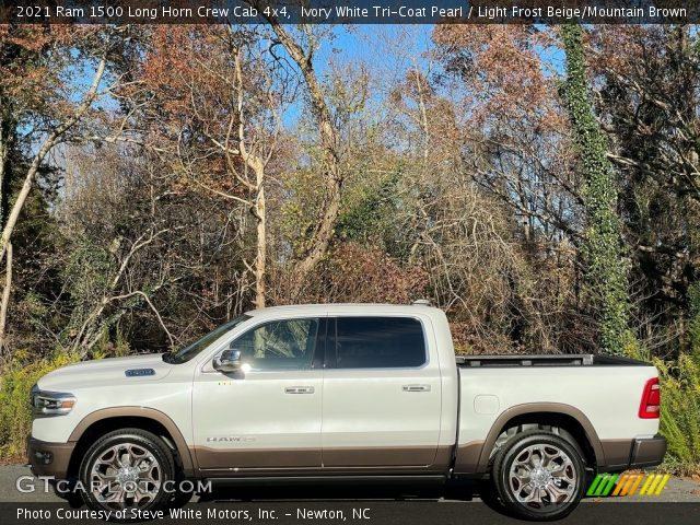 2021 Ram 1500 Long Horn Crew Cab 4x4 in Ivory White Tri-Coat Pearl
