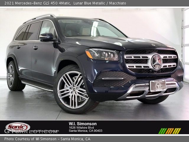 2021 Mercedes-Benz GLS 450 4Matic in Lunar Blue Metallic