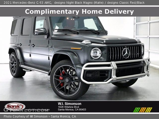 2021 Mercedes-Benz G 63 AMG in designo Night Black Magno (Matte)