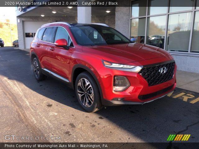 2020 Hyundai Santa Fe Limited 2.0 AWD in Calypso Red
