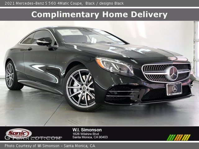 2021 Mercedes-Benz S 560 4Matic Coupe in Black