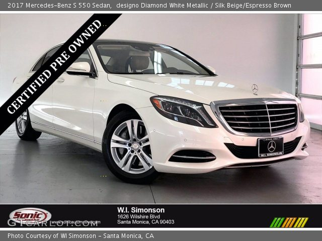 2017 Mercedes-Benz S 550 Sedan in designo Diamond White Metallic