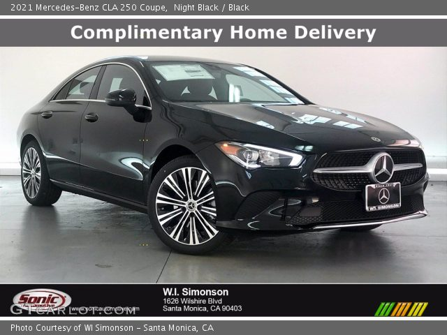 2021 Mercedes-Benz CLA 250 Coupe in Night Black